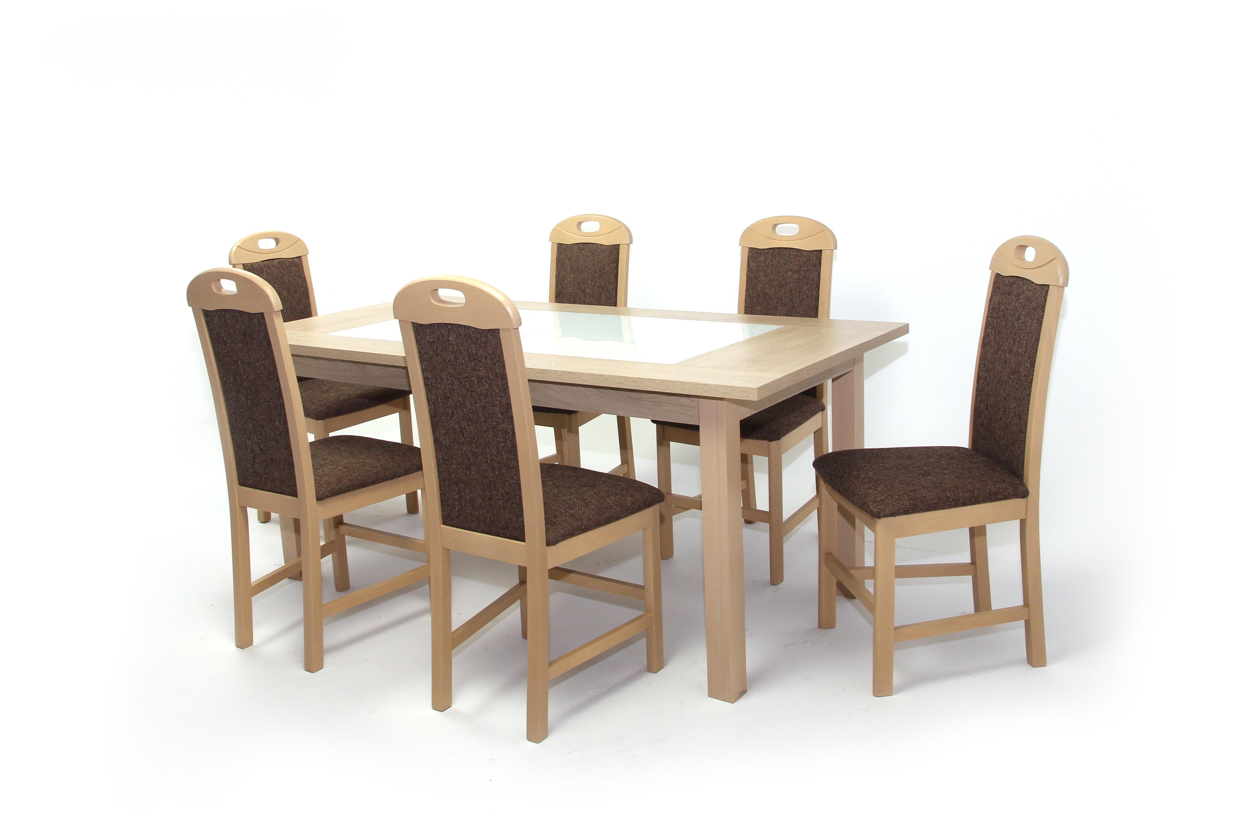 Stella asztal 180 as Világos Avellino + 6 db Viki szék