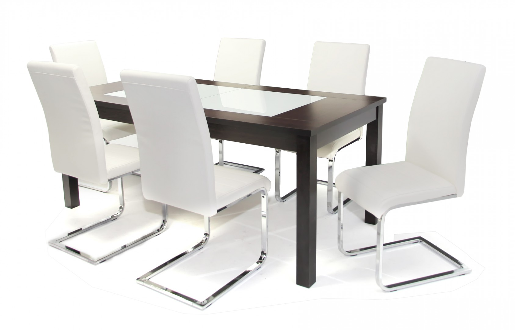 Stella asztal 180 as Wenge + 6 db Boston szék Fehér